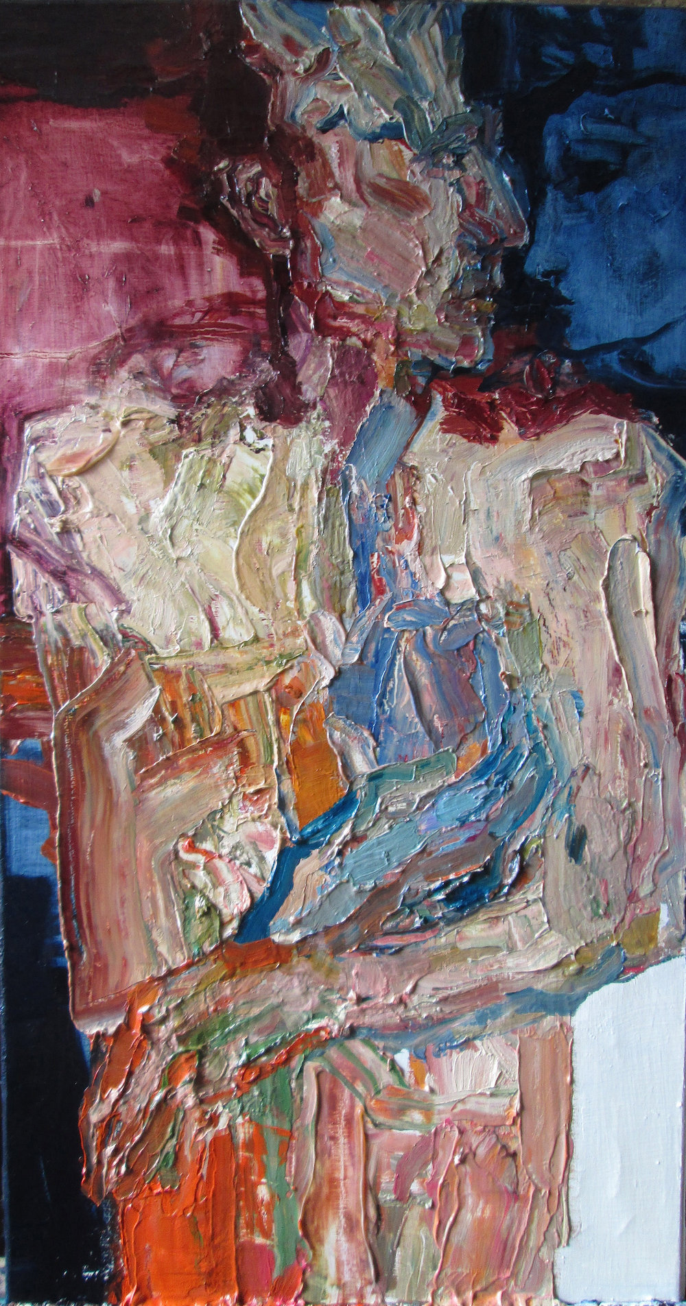 Title: Mazarine Blue  Size: 90 x 53 cm  Medium: Oil on linen  Price: £1800