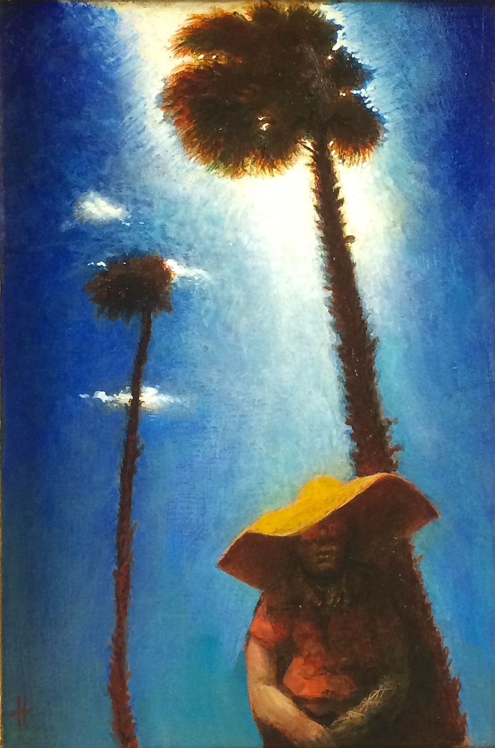 Title: Malaga  Size: 25.5 x 17 cm  Medium: Oil on panel  Price: £1,550