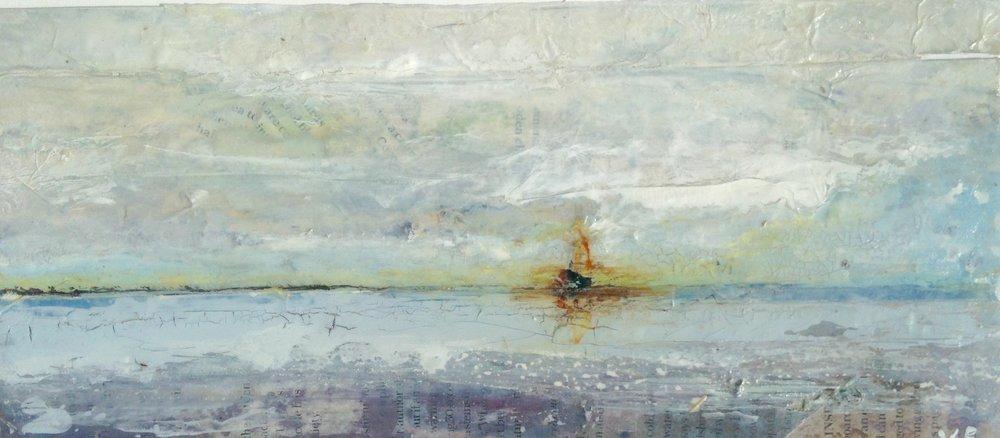 Artist: Viv Richards  Title: Beyond the Horizon  Size: 30 x 43 cm  Medium: Mixed media  Price: £295   Buy Now