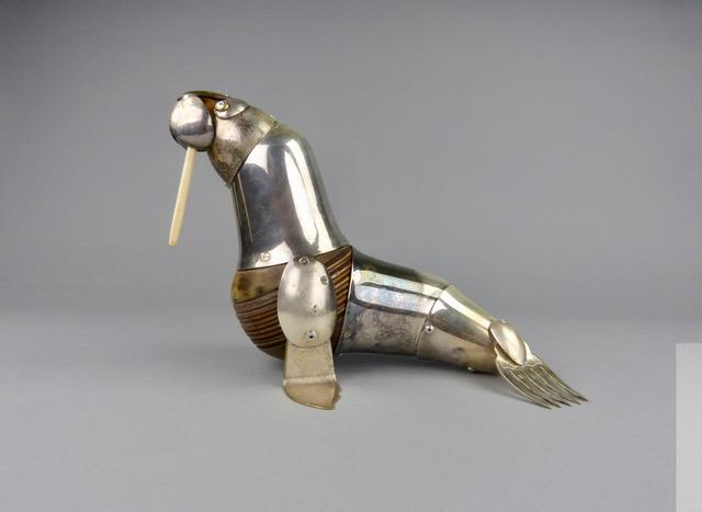Artist: Dean Patman  Title: Walrus  Size: 28 cm (length)  Medium: Mixed media  SOLD