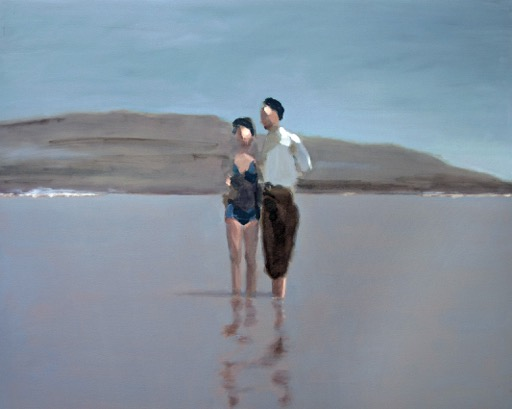 Artist: David Storey  Title: Low Tide at Allonby  Size: 80 x 100 cm  Medium: Oil and mixed media on canvas  SOLD