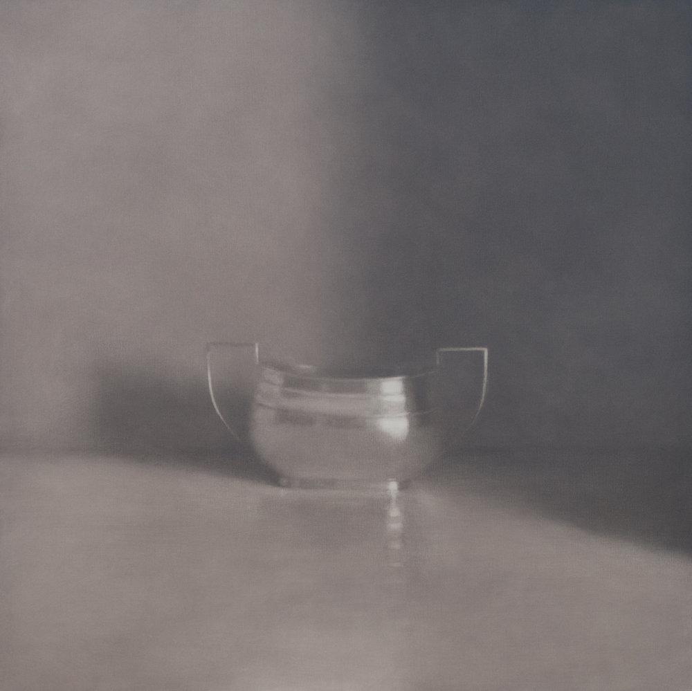 Artist: Harriet Porter  Title: Pale Winter Light  Size: 93 x 93 cm  Medium: Oil on canvas  Price: £2750   Buy Now