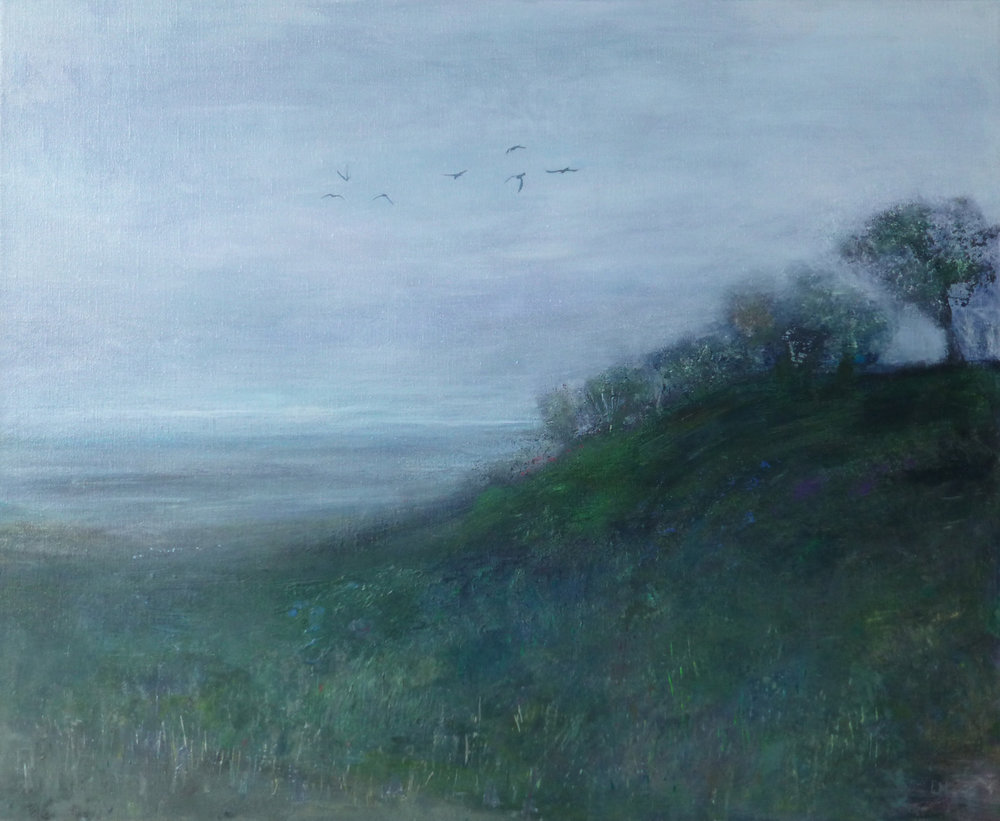 Artist: Luella Martin  Title: By the Shore  Size: 60 x 73 cm  Medium: Oil on linen  Price: £1200   Buy Now