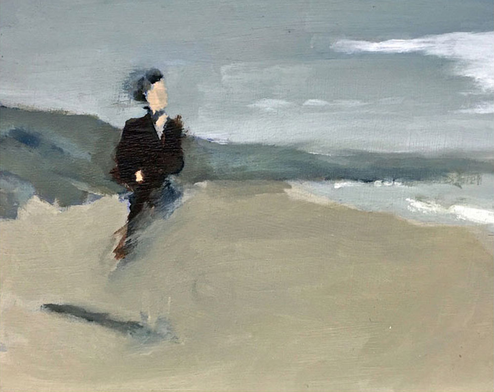 Artist: David Storey  Title: Blown Away  Size: 10 x 13 cm  Medium: Egg tempera and oil on panel  SOLD