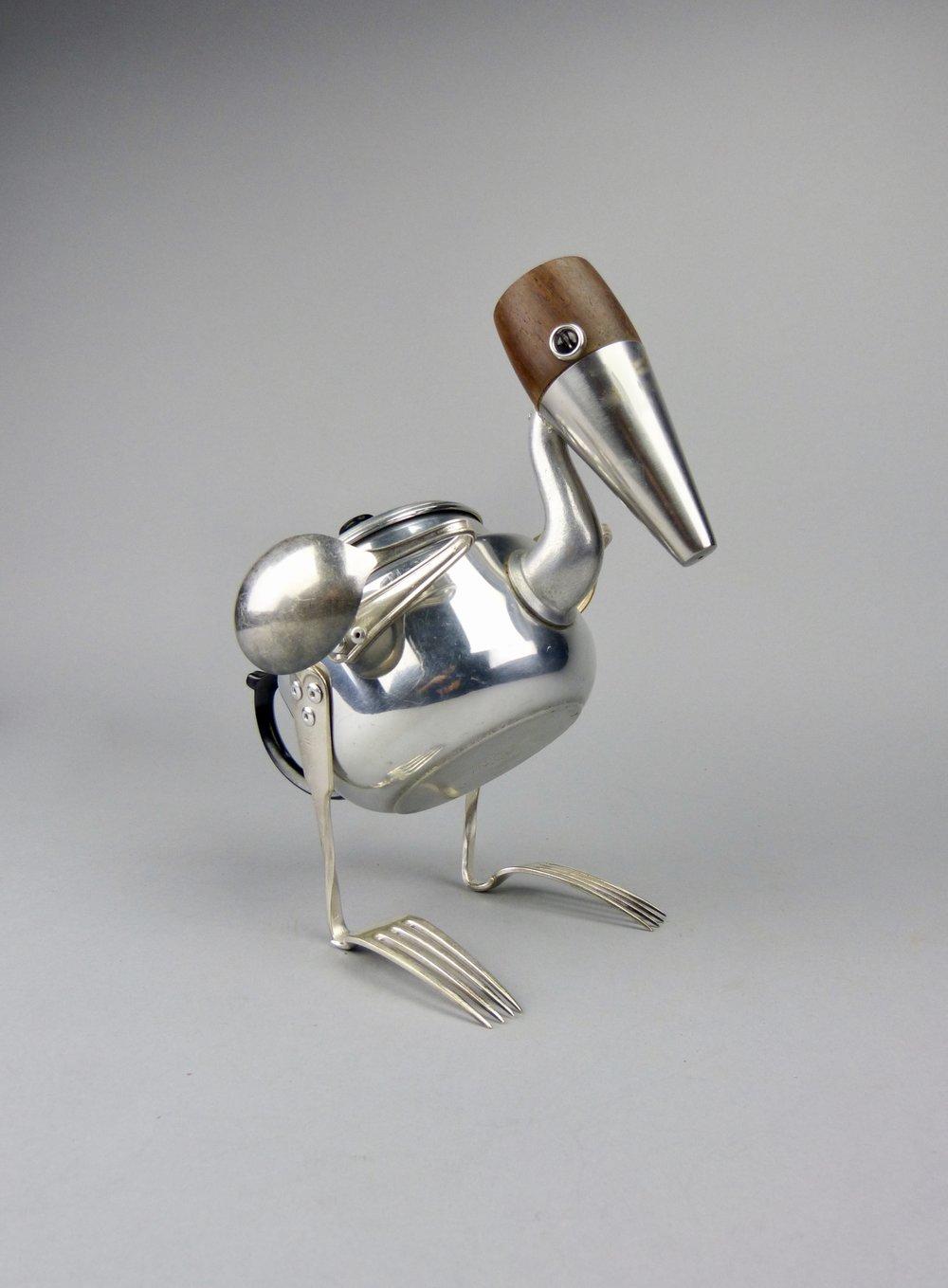 Artist: Dean Patman  Title: Teapot Bird LG  Medium: Mixed media  Size: 28 cm (height)  SOLD