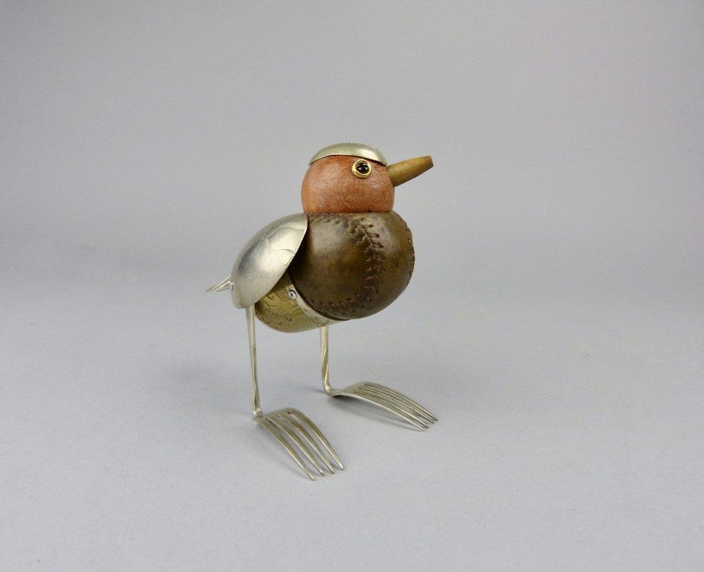 Artist: Dean Patman  Title: Base bird (hat)  Size: 15 cm (height)  Medium: Mixed media  Price: £225