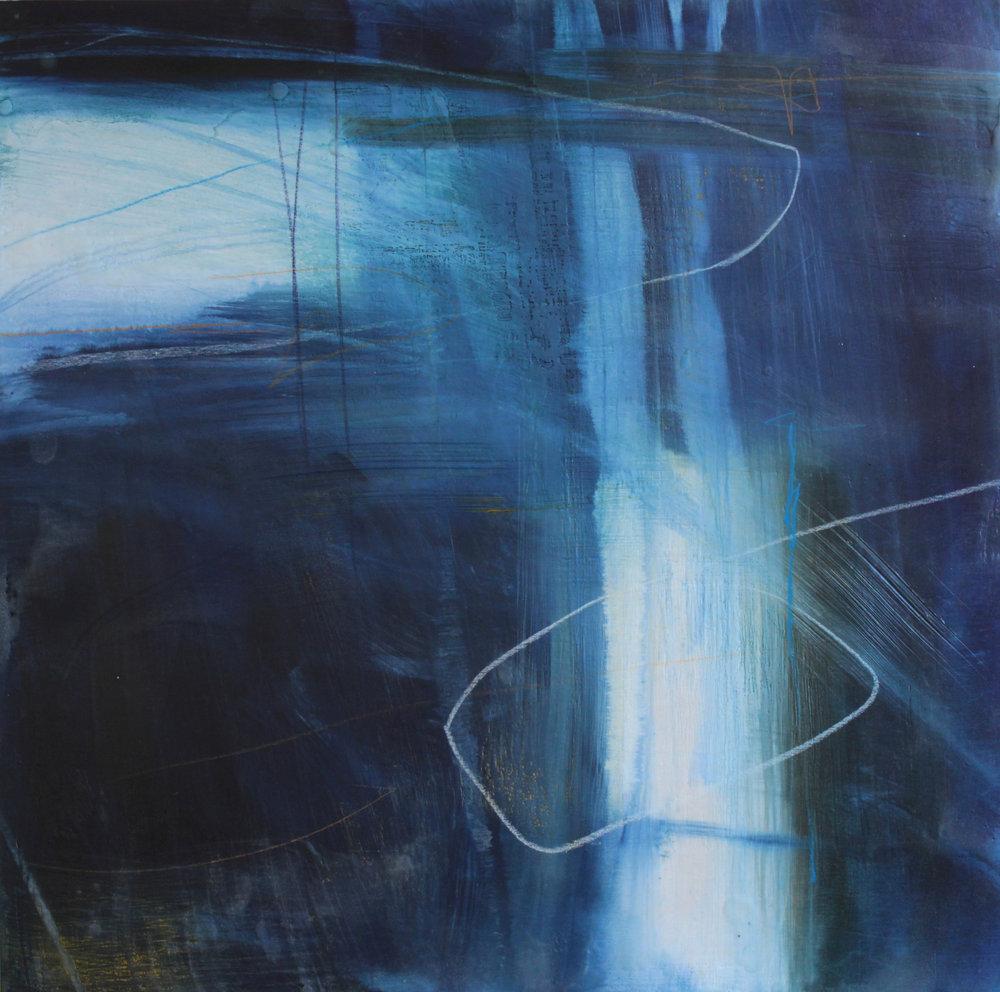 Title: Luminescent Size: 50 x 50 cm Medium: Encaustic wax on wood panel Price: £995