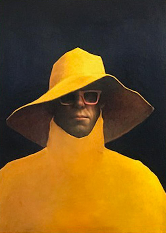 Artist: Kevin Hendley  Title: I Wish I had Worn Tweed  Medium: Oil on panel  SOLD