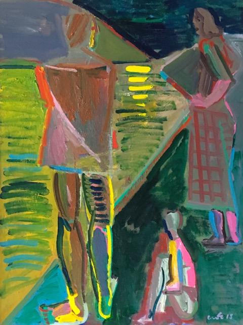 Artist: Luke Hannam  Title: After the Swim  Size: 122 x 91 cm  Medium: Oil on canvas  Price: £2750   Buy Now
