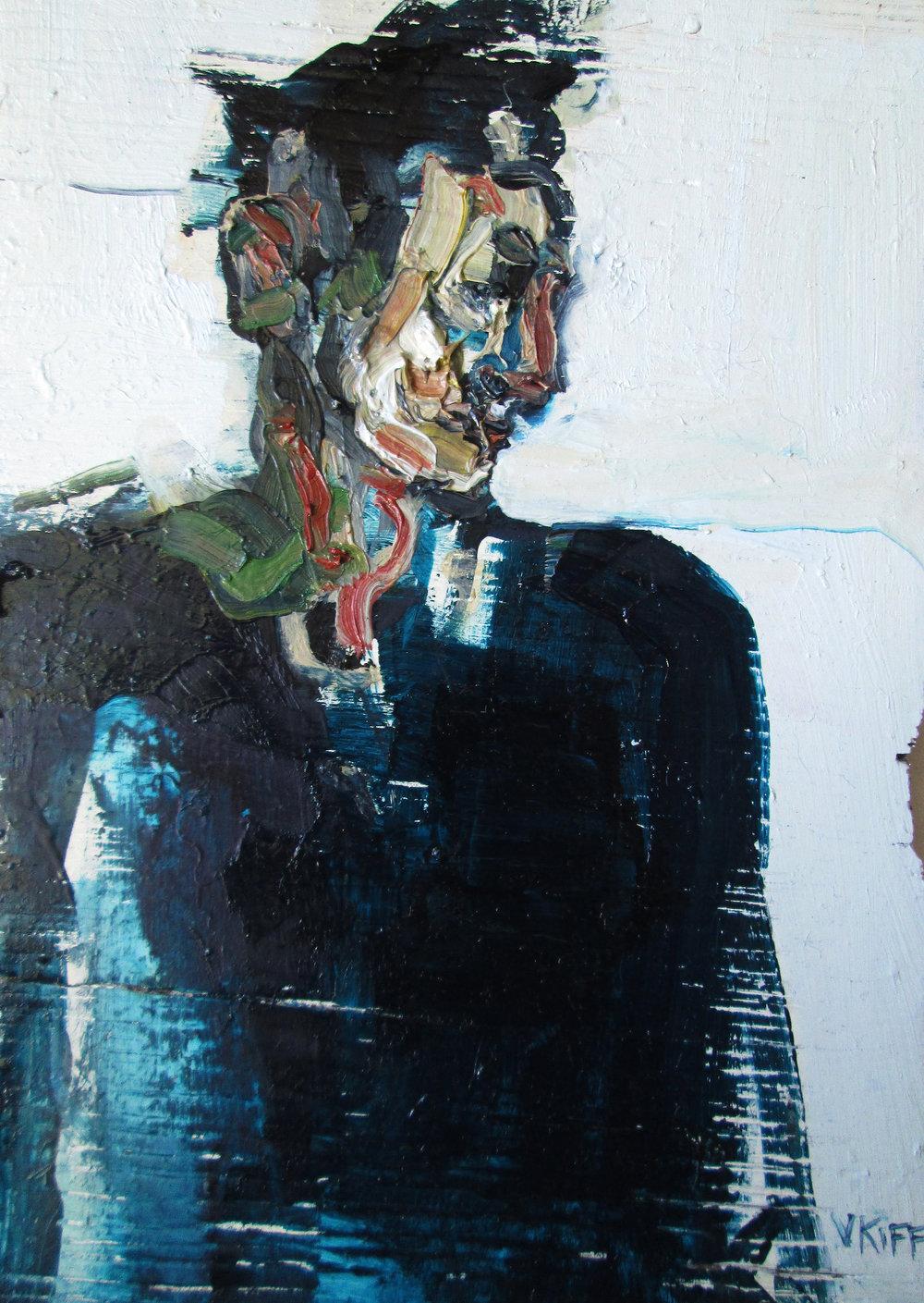 Artist: Victoria Kiff  Title: Beside the Reservoir  Size: 21 x 15 cm  Medium: Oil on wood panel  SOLD