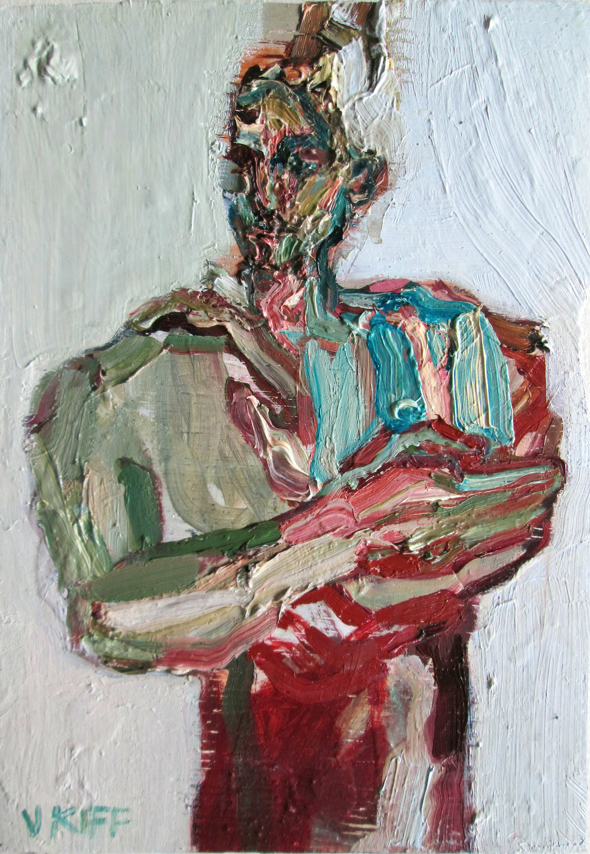 Artist: Victoria Kiff  Title: First Lights  Size: 21 x 15 cm  Medium: Oil on panel  SOLD