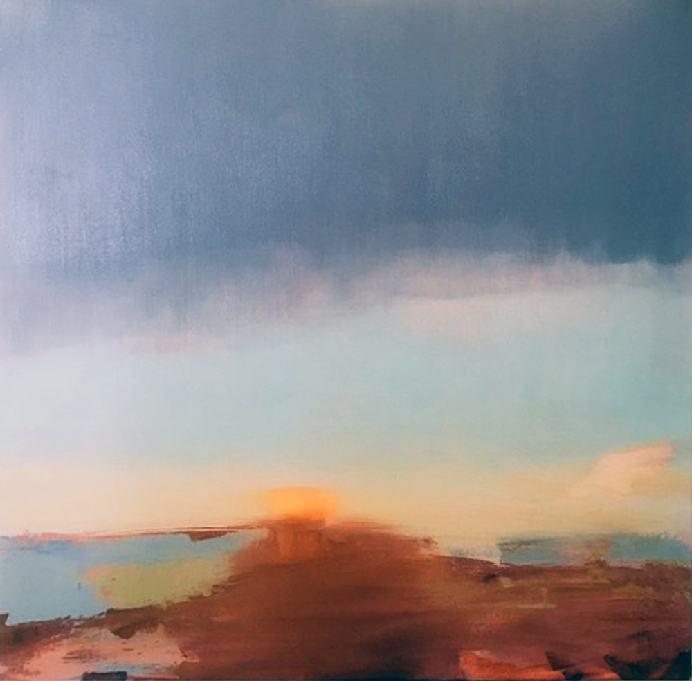 Artist: David Scott Moore  Title: South Downs National Park - Late Autumn I  Size: 100 x 100 cm  Medium: Oil on canvas  Price: £2950   Buy Now