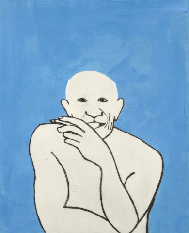 Title: Picasso  Size: 76 x 62 cm  Medium: Drypoint, carborundum   and gouache  Price: £1350 unframed   Buy Now