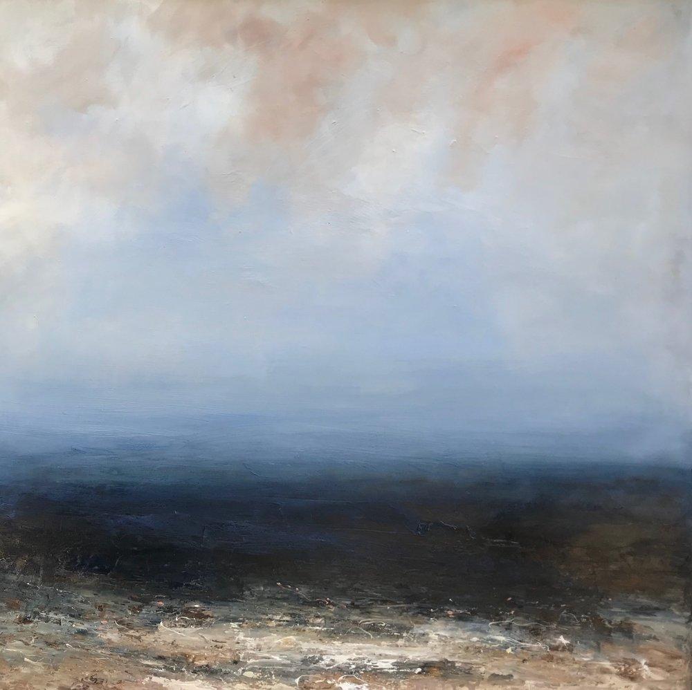 Title: Calm  Size: 100 x 100 cm  Medium: Oil on canvas  Price: £1650   Buy Now