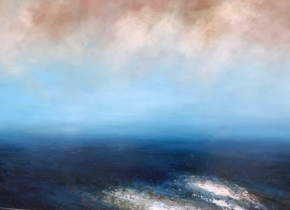 Title: Glisten  Size: 95 x 130 cm  Medium: Oil on canvas  Price: £1850   Buy Now