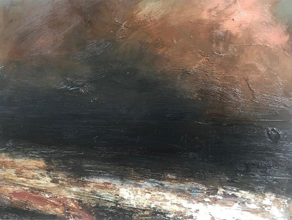 Title: Seascape 2  Size: 30 x 22 cm (framed size 55 x 47 cm)  Medium: Oil on panel  Price: £360   Buy Now