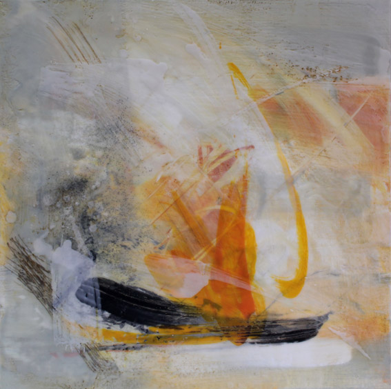 Artist: Alison Orchard  Title: Passing  Size: 40 x 40 cm  Medium: Encaustic wax on canvas  Price: £895   Buy Now