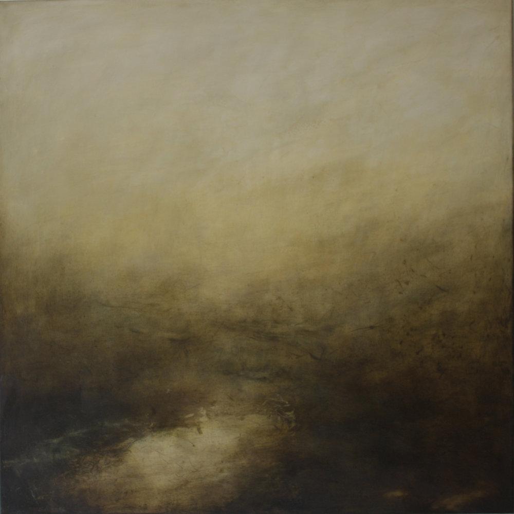 Artist: Victoria Graimes  Title: Hillock  Size: 110 x 110 cm  Medium: Oil on canvas  Price: £3000   Buy Now