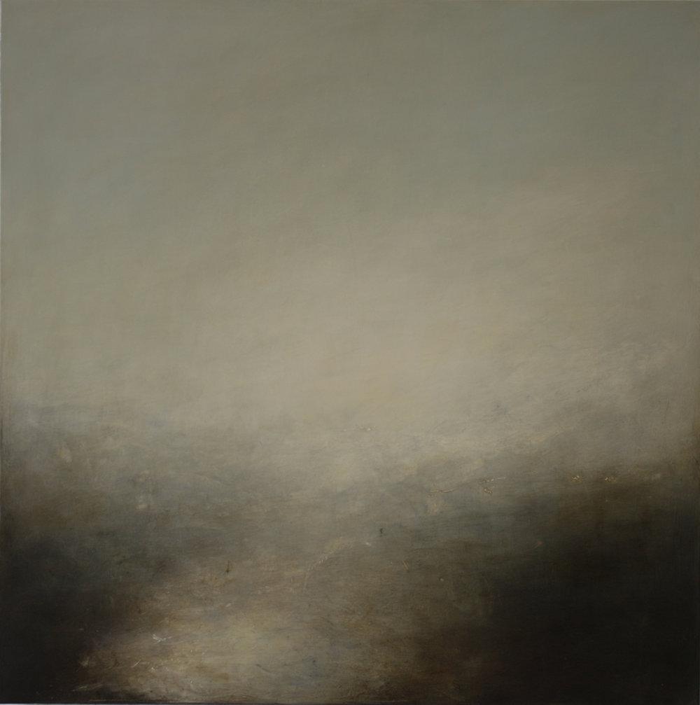 Artist: Victoria Graimes  Title: Meander II  Size: 100 x 100 cm  Medium: Oil on canvas  Price: £2500   Buy Now