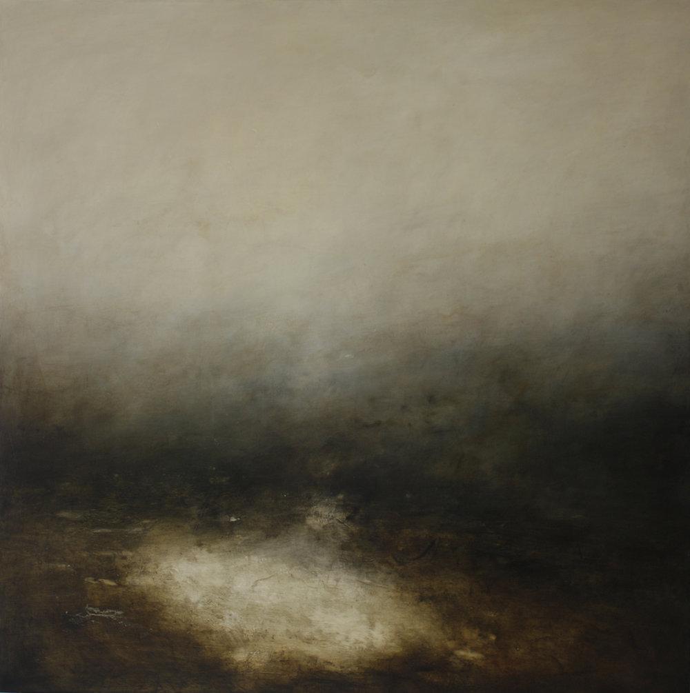 Artist: Victoria Graimes  Title: Hinterland  Size: 130 x 130 cm  Medium: Oil on canvas  Price: £4000   Buy Now