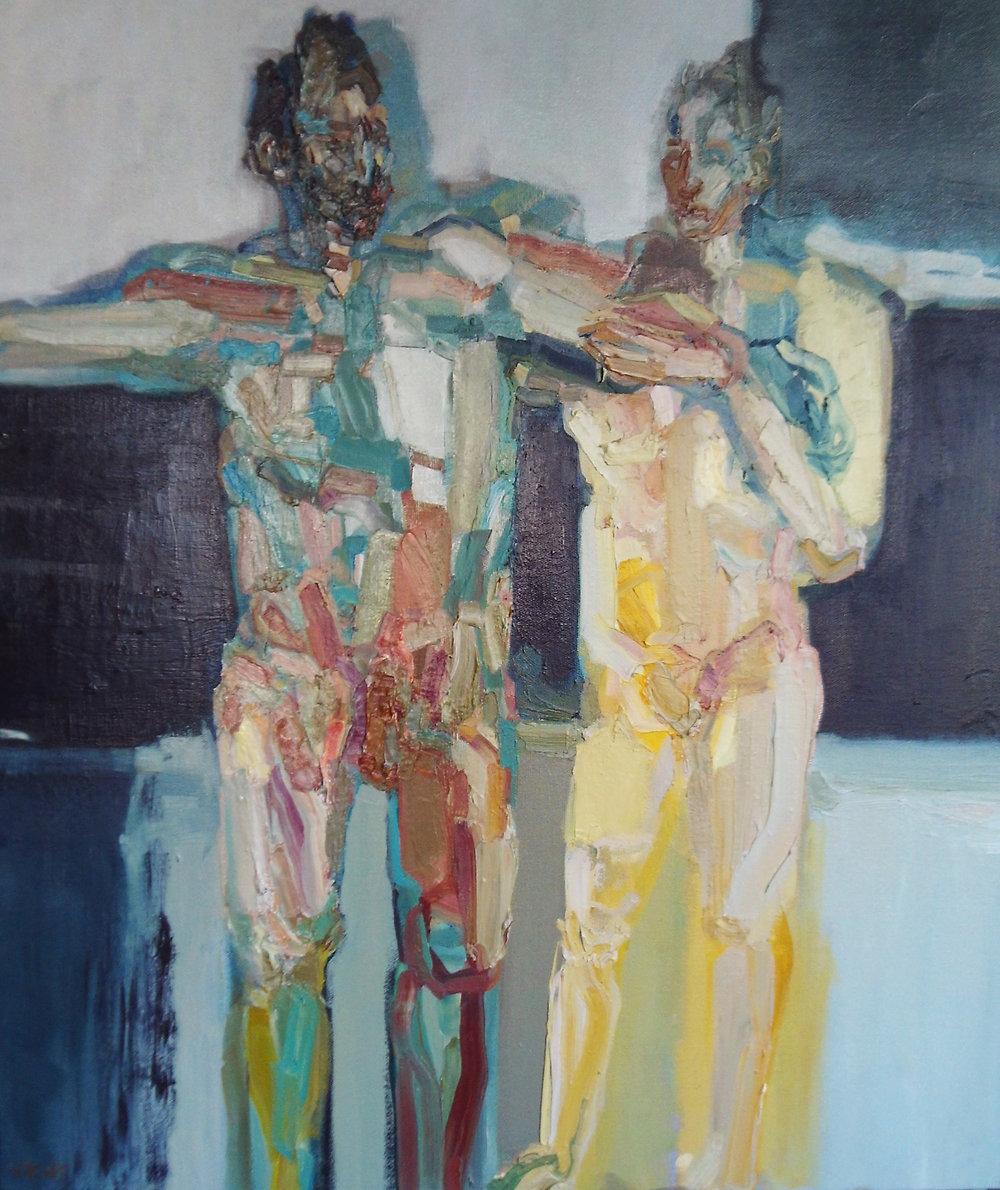 Artist: Victoria Kiff  Title: Labyrinthine  Size: 75 x 65 cm  Medium: Oil on linen  Price: £1800   Buy Now