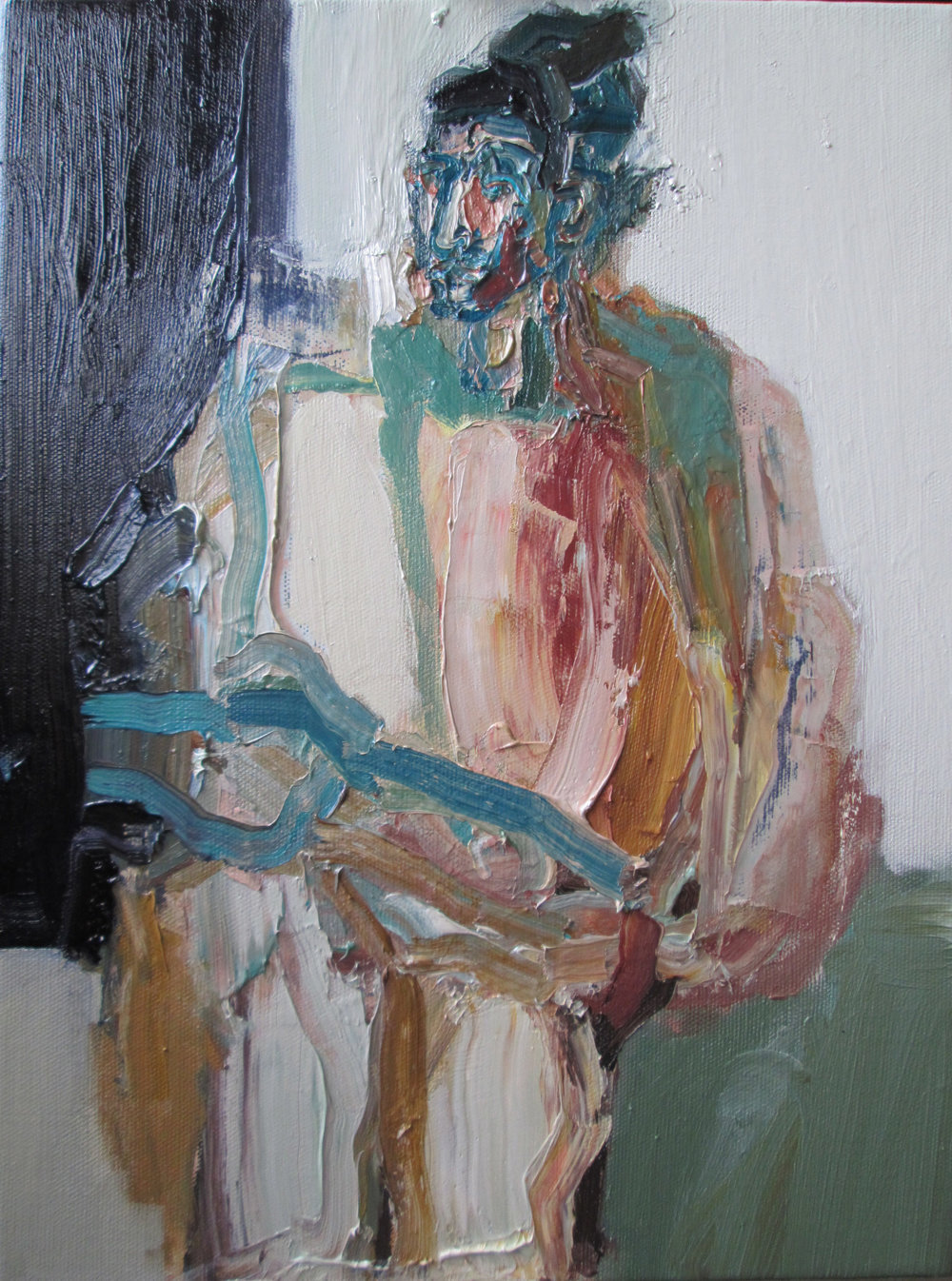 Artist: Victoria Kiff  Title: The Hand Paces  Size: 45 x 35 cm  Medium: Oil on linen  Price: £800   Buy Now