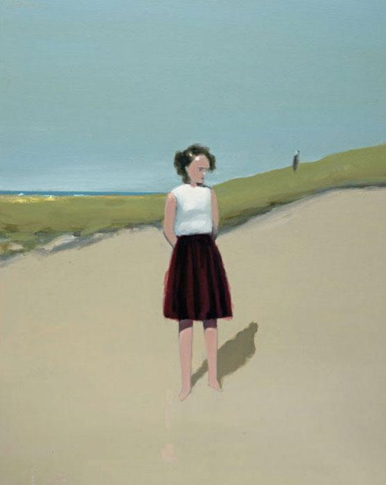 Artist: David Storey  Title: Figure on a Beach  Size: 100cm x 80 cm  Medium: oil and mixed media on canvas  Price: £3400