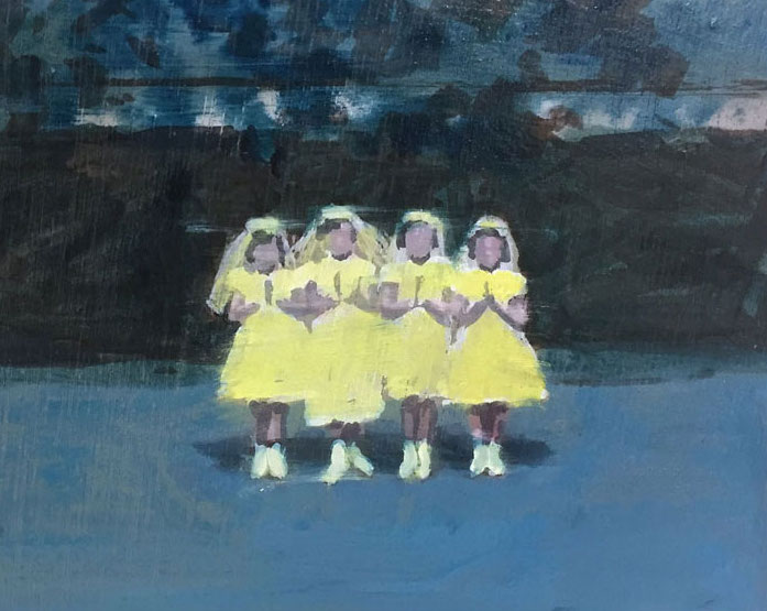 Artist: David Storey  Title: Pious   Size: 10cm x 13cm  Medium: egg tempera and oil on panel  Price: £550