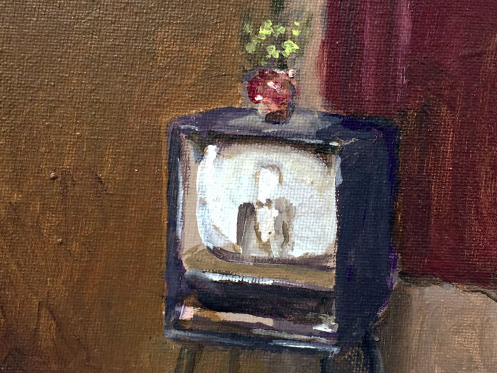 Artist: David Storey  Title: Pot Black  Size: 10cm x 13cm  Medium: egg tempera and oil on panel  Price: £550