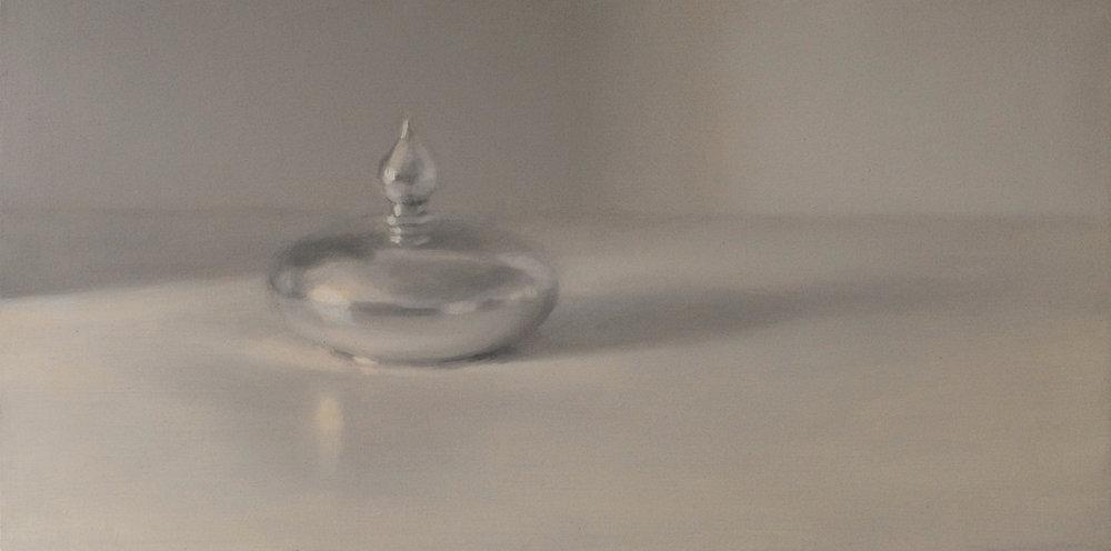 Artist: Harriet Porter  Title: The Gleaming  Size: 22cm x 42cm  Medium: oil on canvas  Price: £750