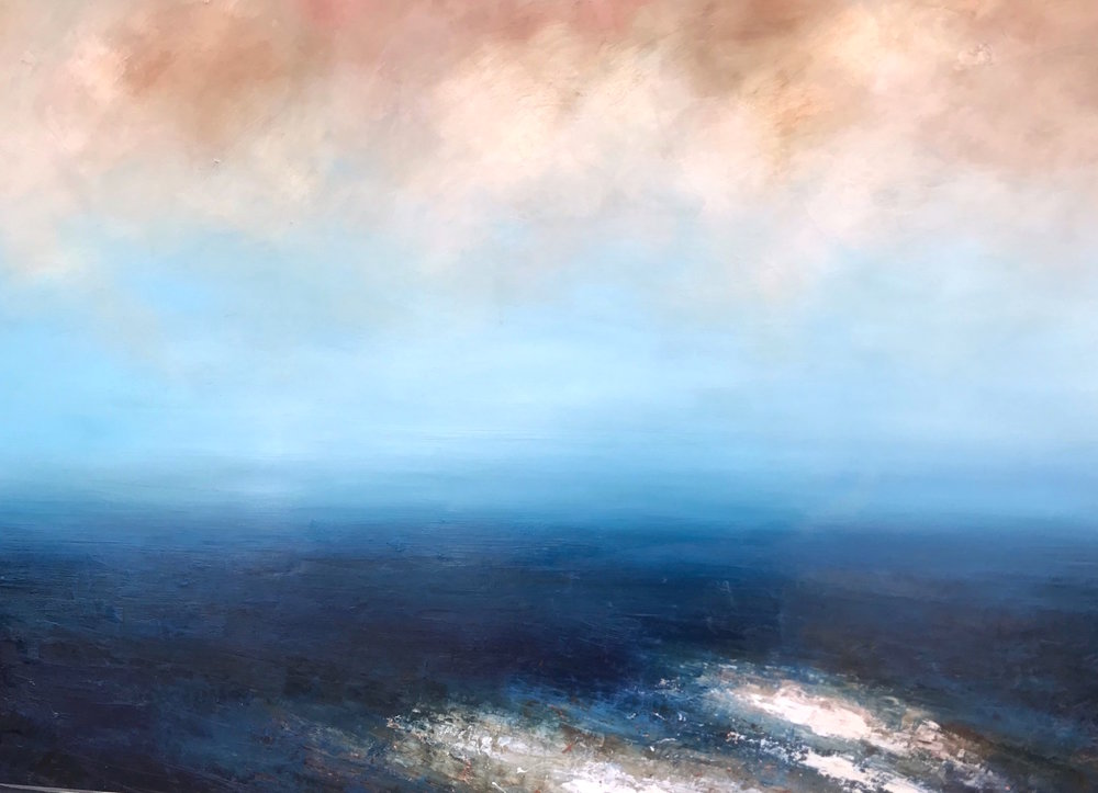 Artist: Hannah Ludnow  Title: Glisten  Size: 95 x  130cm  Medium: oil on canvas  Price: £1850