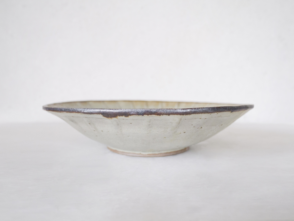Shallow Large Fluted Dish