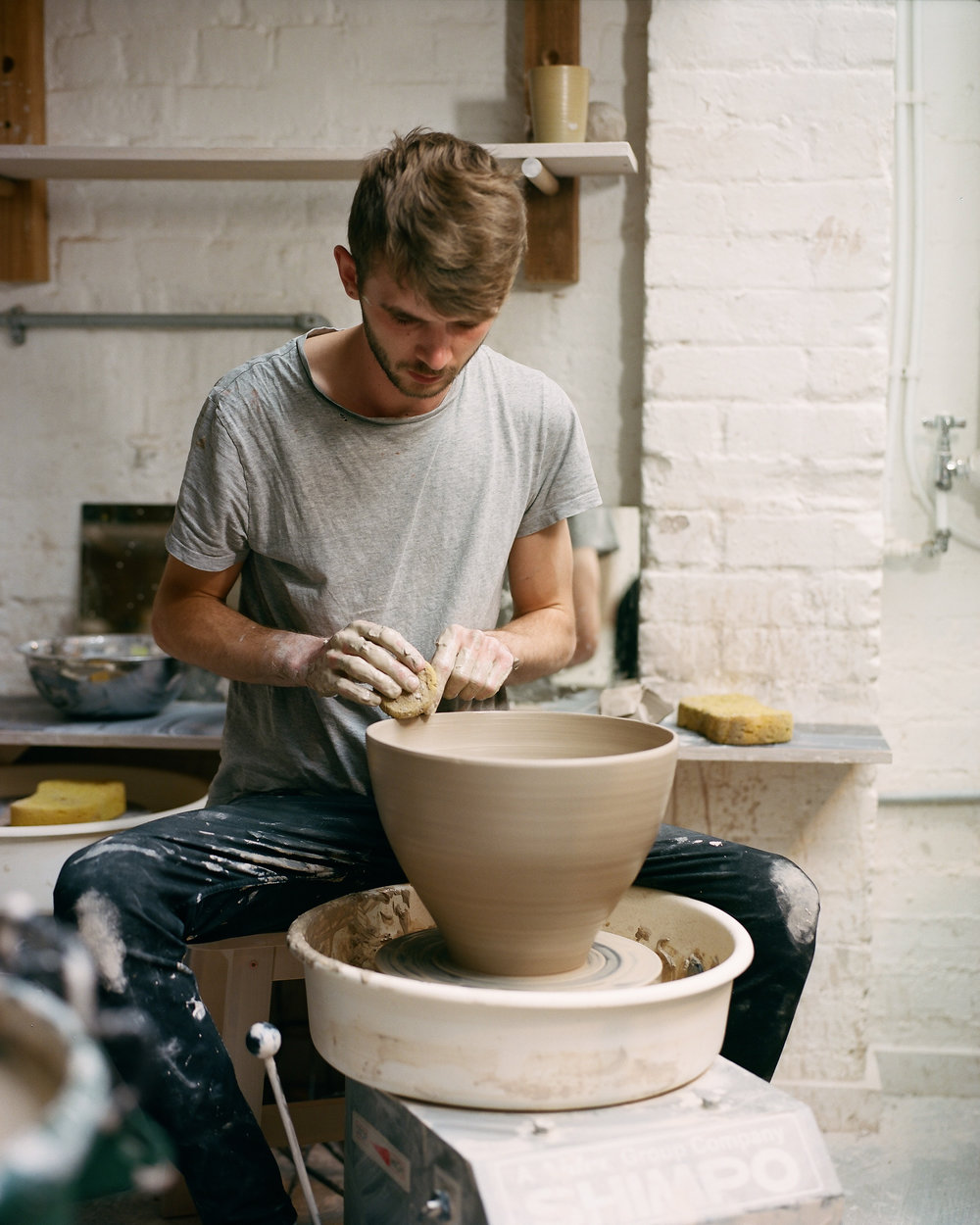 Photo by Sophie Gladstone taken @ Crown Works Pottery