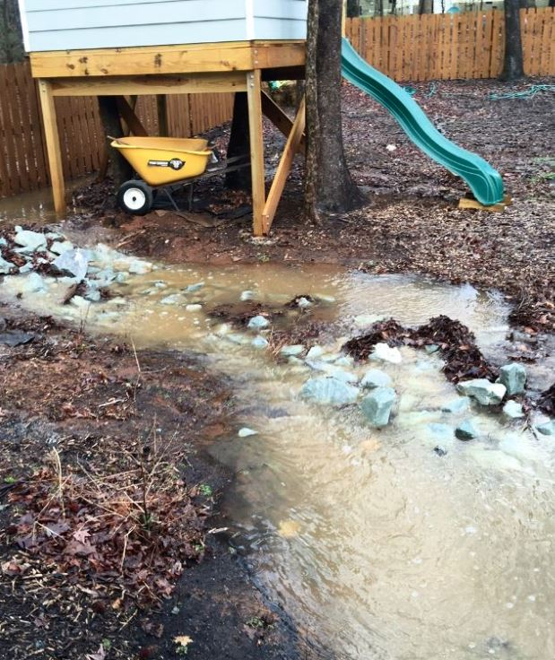 Washed Out Gardens, Flower Beds, and Play Areas