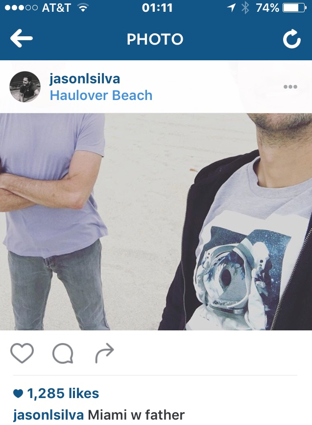 Image: Instagram post by Jason Silva 24 March 2016