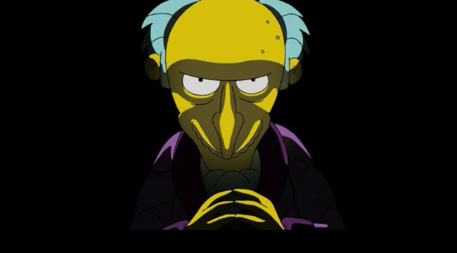Image: Mr. Burns  The Simpsons  Source: https://uproxx.com/tv/mr-burns-simpsons-evil-moments/