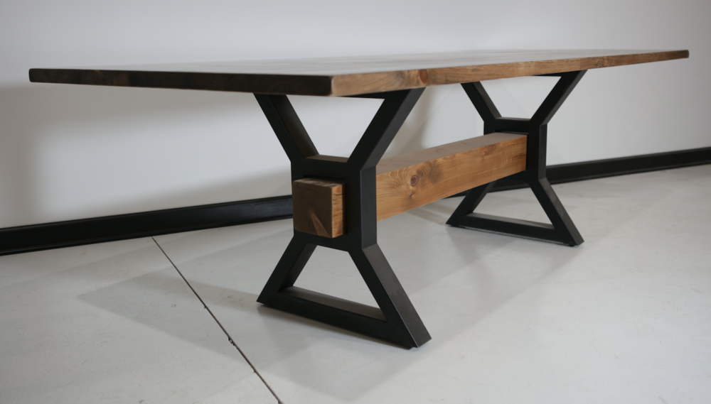 X-Beam Dining Table designed for no-issue seating around the table.