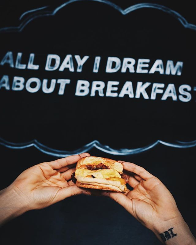 All day (and night) I dream about breakfast. Life is really just one long breakfast dream. When are you coming to see us to make that dream come true?