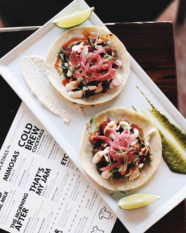Taco Tuesday should happen every day of the week. Especially when you're talking about our Pass-Tor The Tacos.⠀ ⠀ They're corn tortillas topped with marinated pork, pickled red onion, grilled pineapple, cilantro pesto, onion, ranchero sauce, lime and ancho cream. Have you made your dinner reservation yet? #TacoTuesday #TacoDay