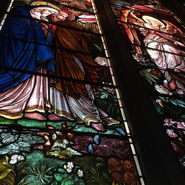 """www.churchoftheangels.film ——— """"Frame up one of the best stained glass windows in North America on your next shoot! Book it now!"""" #film #stainedglass #filmpasadena #churchoftheangelsfilm"""
