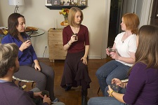 Dana Calvey teaches a group of Alexander Technique students.
