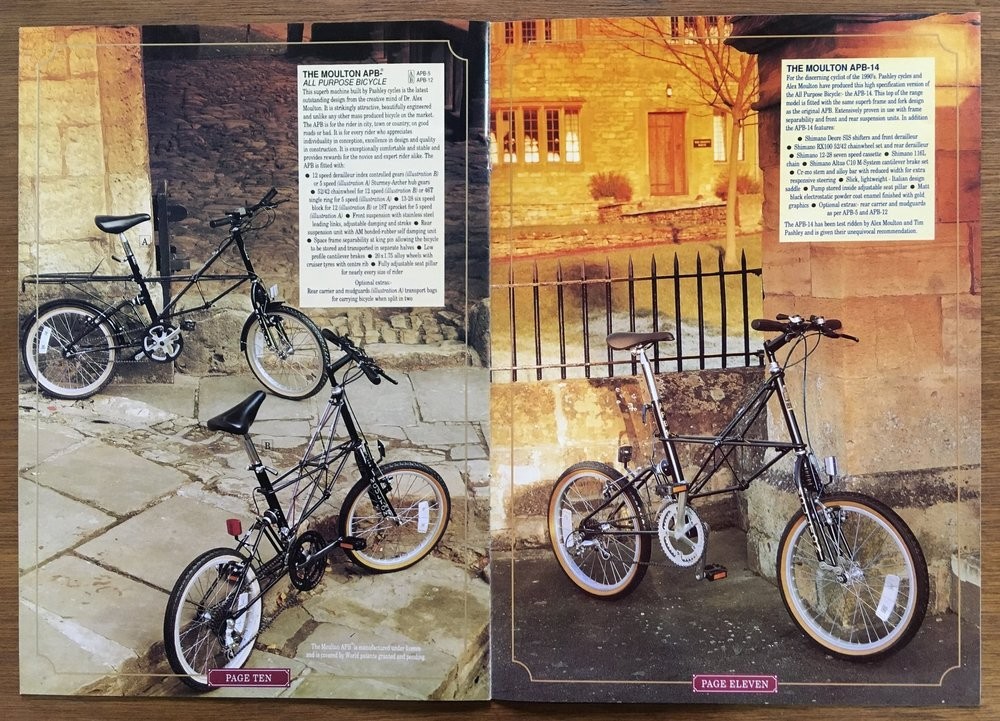 APB spread from 1994 Pashley brochure