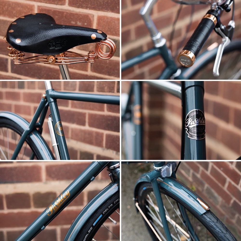The exquisite detailing on The Pashley Brooks 150th Anniversary Roadster.