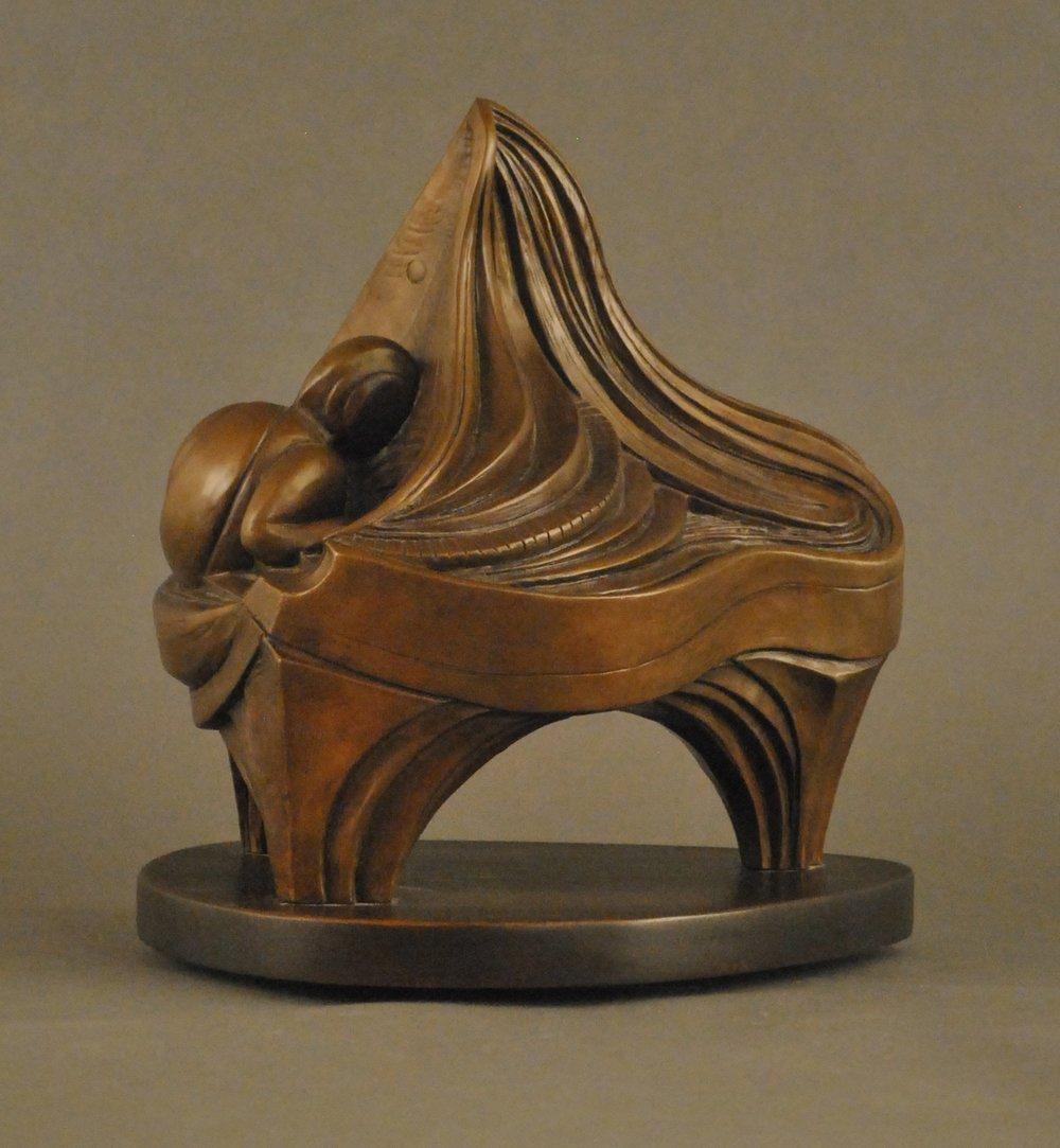 Piano Solo In 3D (bronze patina)