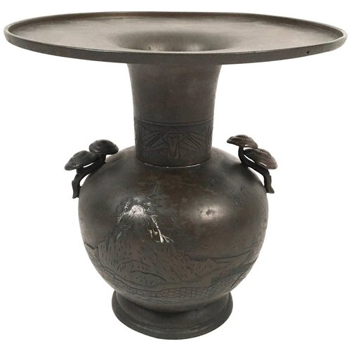 Sold Large Japanese Meiji Period Bronze Vase Andrew Spindler