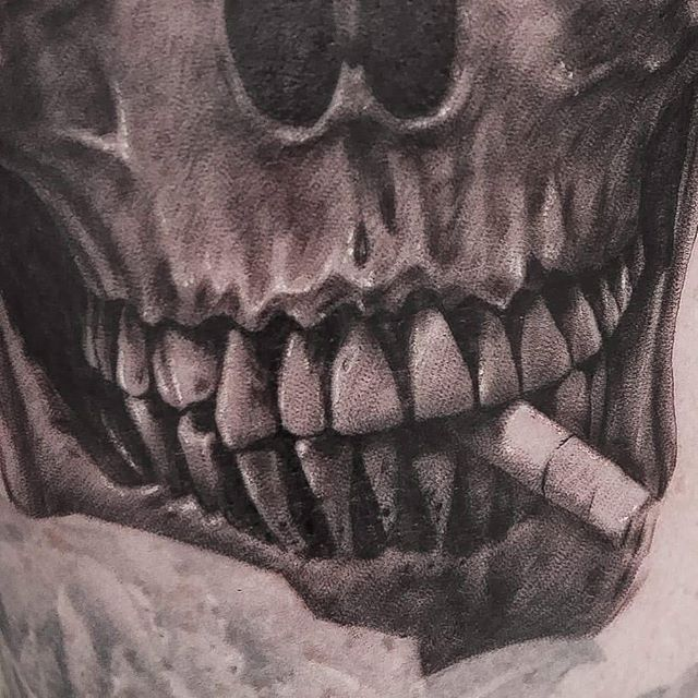 In-progress skull details from our newest artist @katherineparkess awesome!