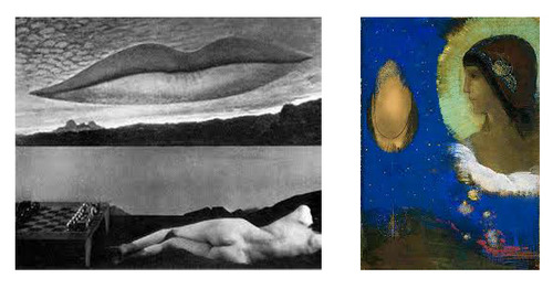 Man Ray, Observatory, Time, The Lovers, 1936 Odilon Redon, Sita, 1893
