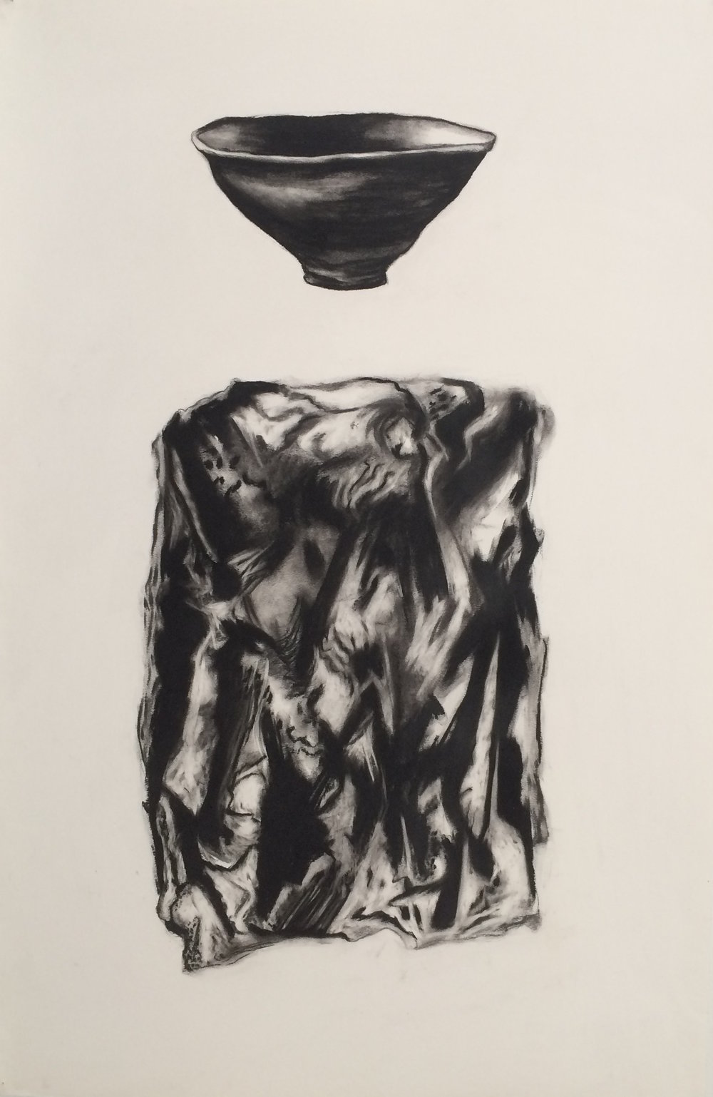 "Bowl Mineral 38""x 24"" (charcoal)"