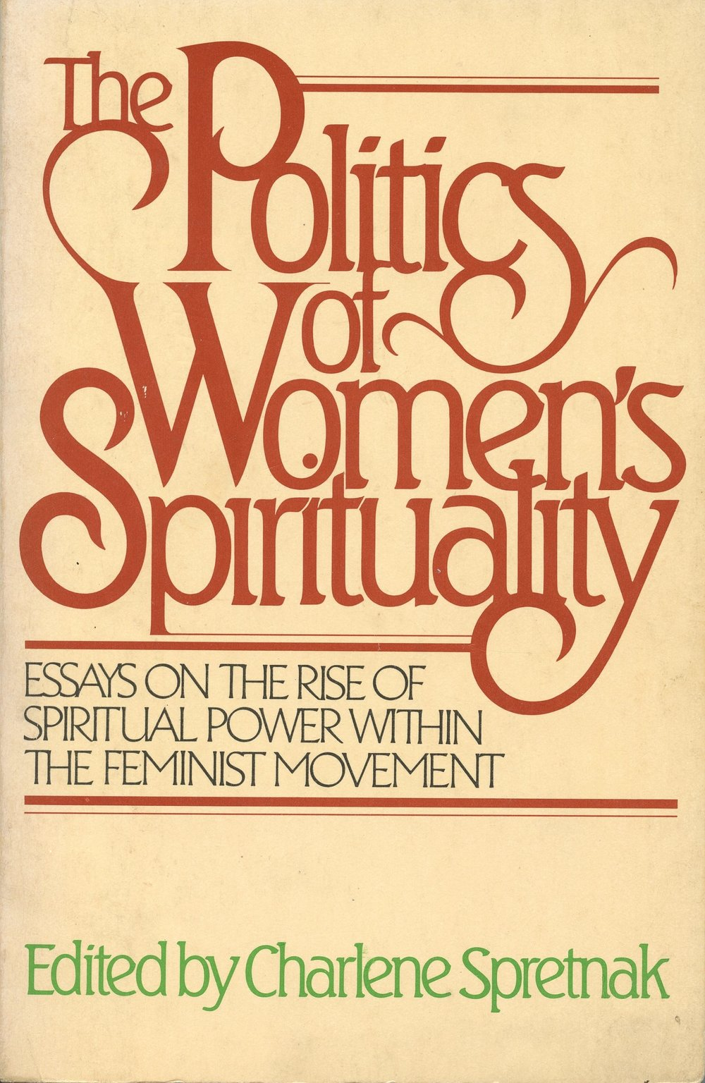 POLITICS OF WOMEN'S SPIRITUALITY