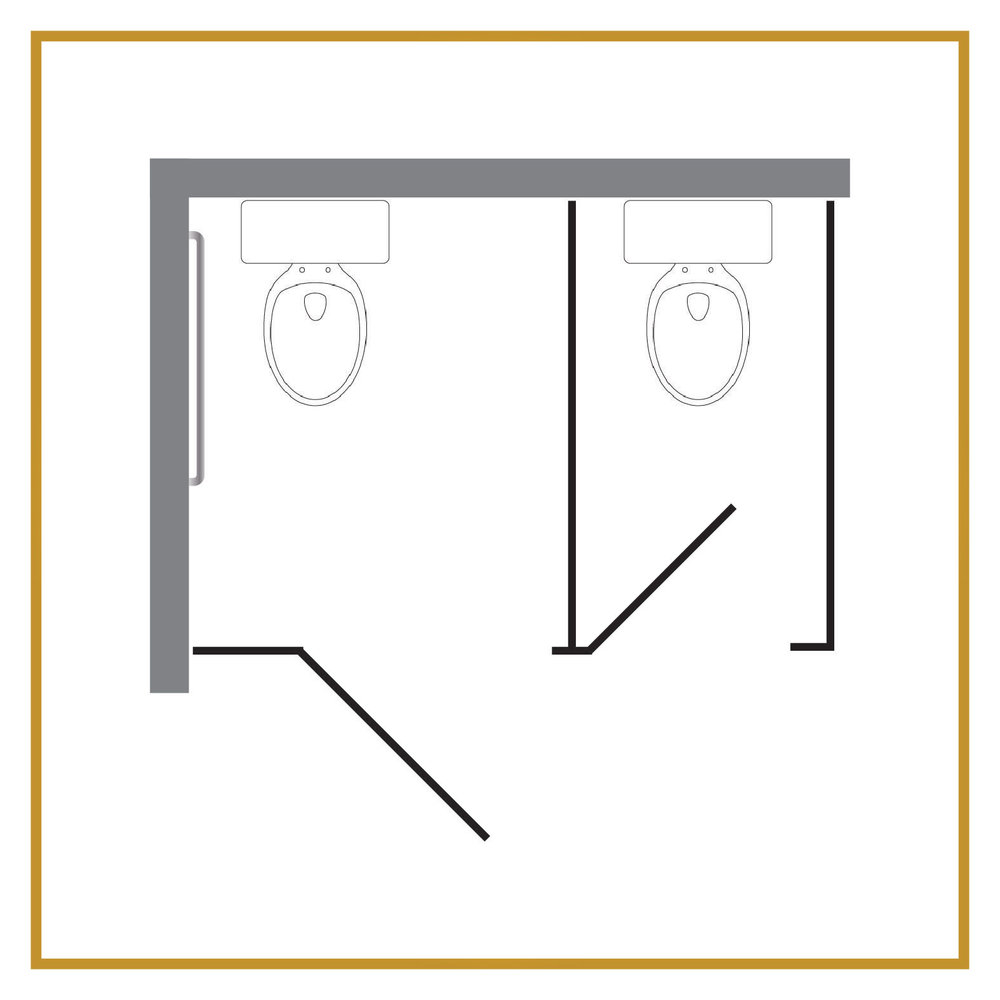 1 Regular Stall + 1 ADA Stall